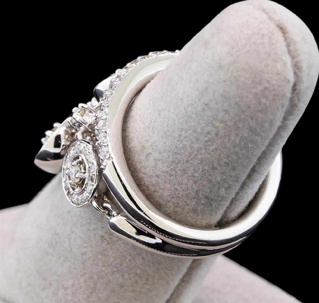 14KT White Gold 1.35 ctw Diamond Ring - 3