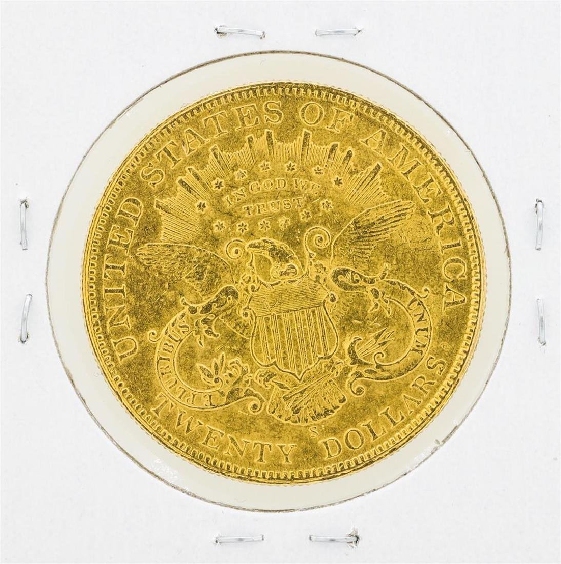 1898-S $20 Liberty Head Double Eagle Gold Coin - 2