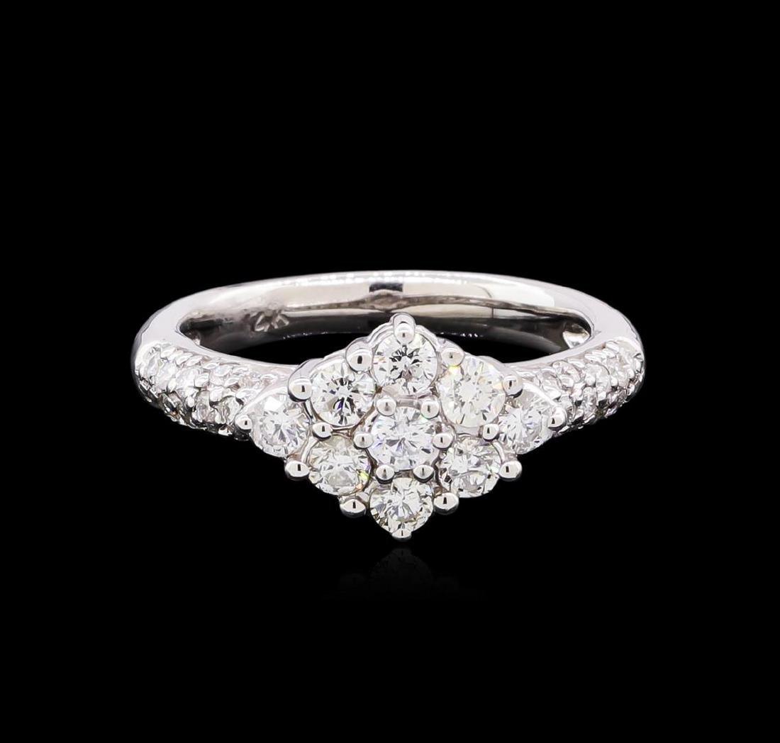 0.95 ctw Diamond Ring - 14KT White Gold - 2