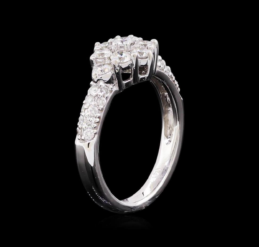 0.95 ctw Diamond Ring - 14KT White Gold - 4