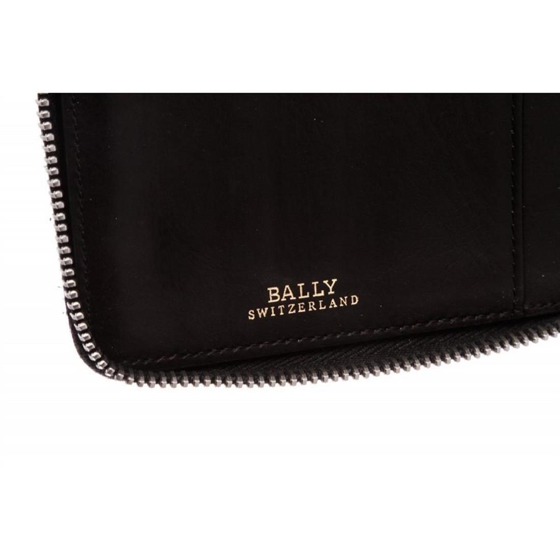 Bally Black Leather Long Zipper Wallet - 6