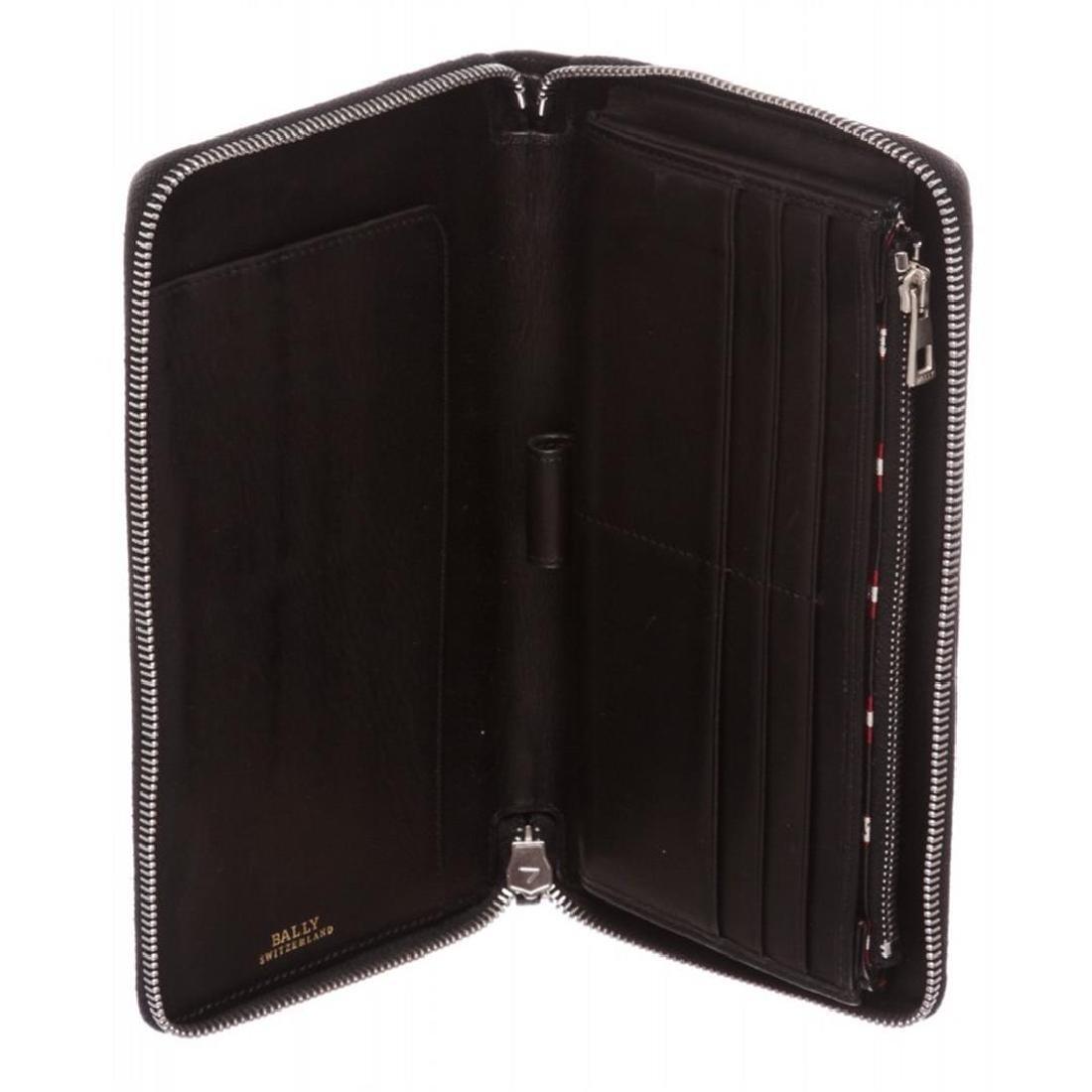 Bally Black Leather Long Zipper Wallet - 7