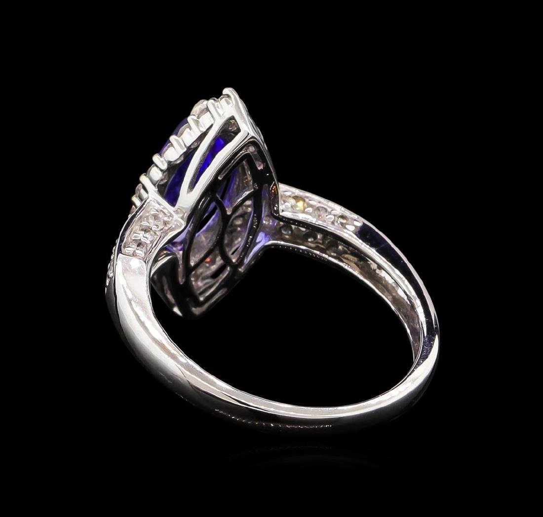 14KT White Gold 2.13 ctw Tanzanite and Diamond Ring - 3
