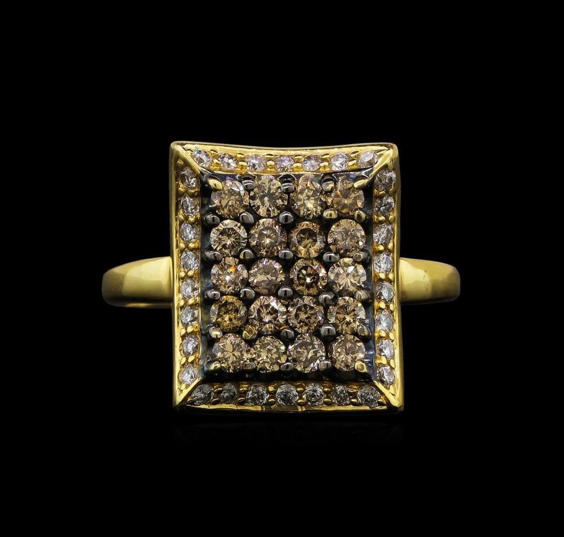 1.00 ctw Diamond Ring - 14KT Yellow Gold - 2