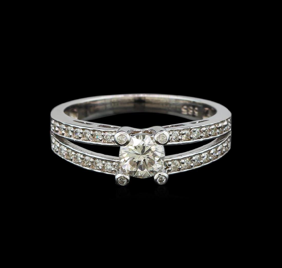 0.77 ctw Diamond Ring - 14KT White Gold - 2