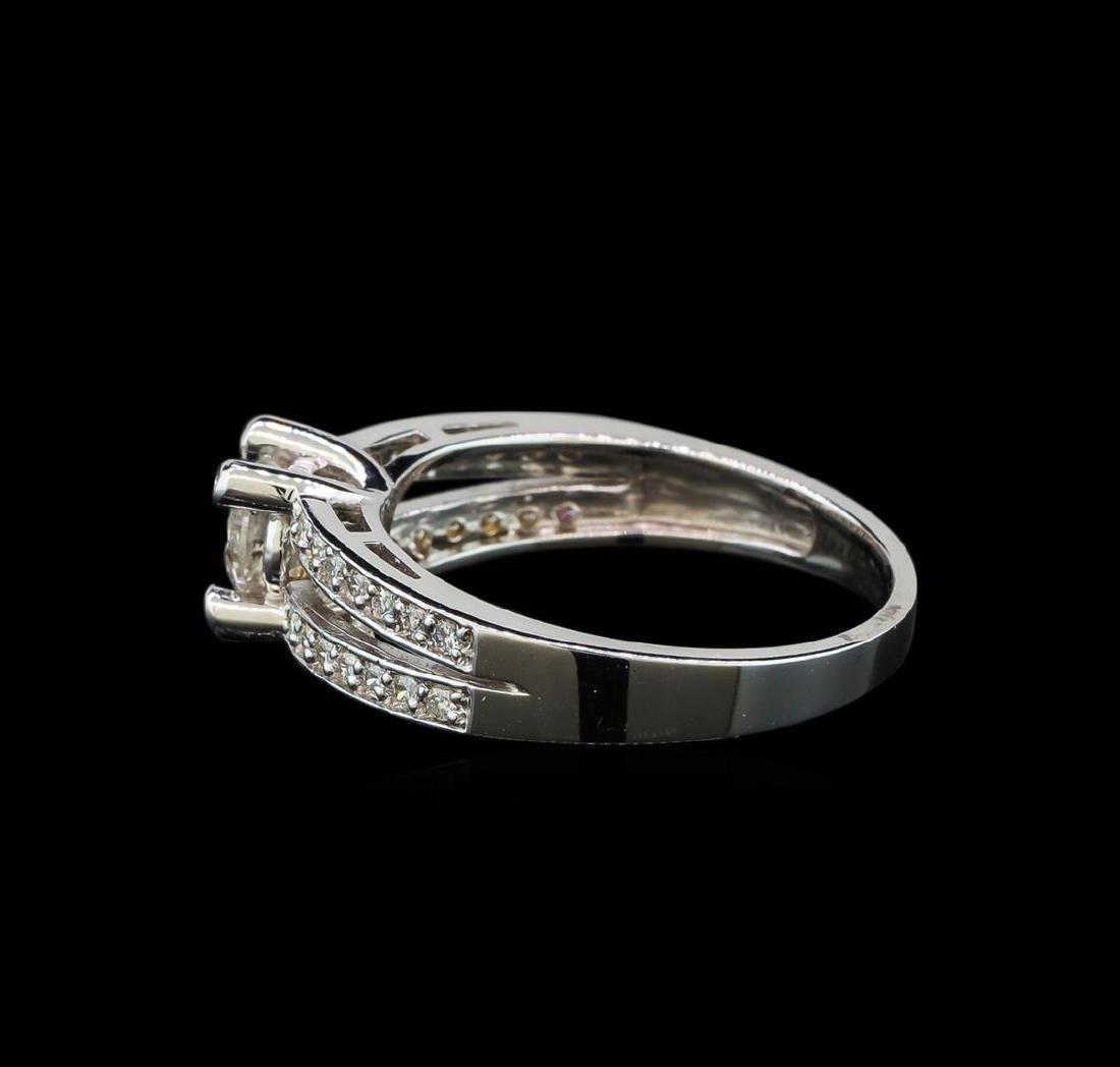 0.77 ctw Diamond Ring - 14KT White Gold - 3
