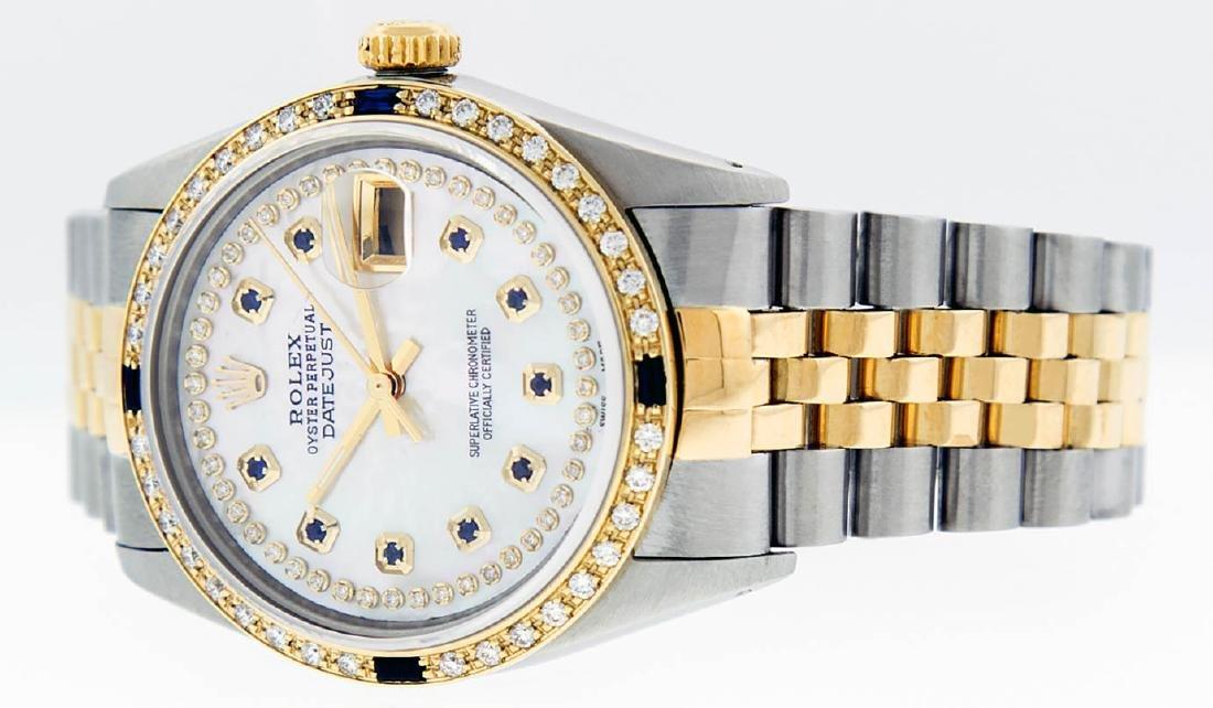 Rolex Mens 2 Tone 14K Mother Of Pearl Diamond & - 3