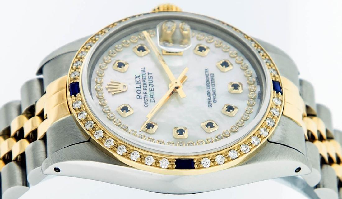 Rolex Mens 2 Tone 14K Mother Of Pearl Diamond & - 5