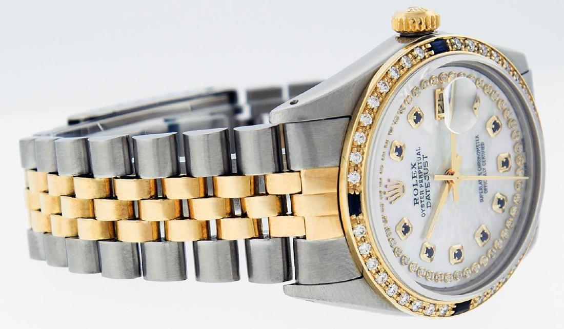 Rolex Mens 2 Tone 14K Mother Of Pearl Diamond & - 6