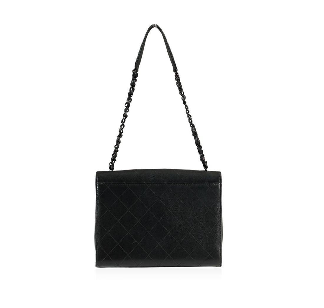 Chanel Black Mini Flap Bag - 4