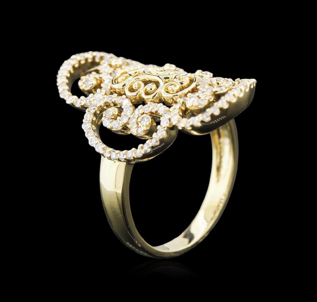 0.68 ctw Diamond Ring - 14KT Yellow Gold - 3