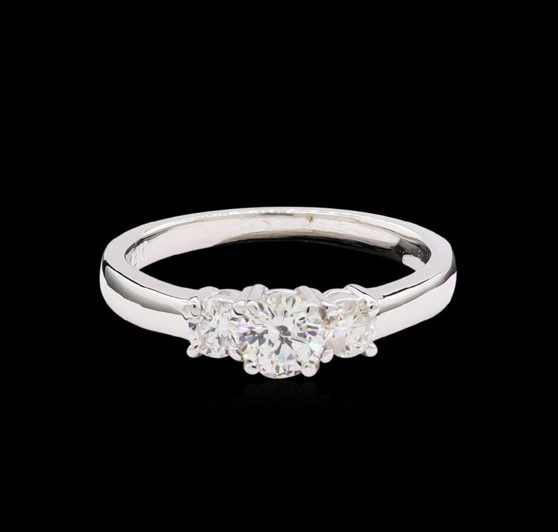 0.74 ctw Diamond Ring - 14KT White Gold - 2