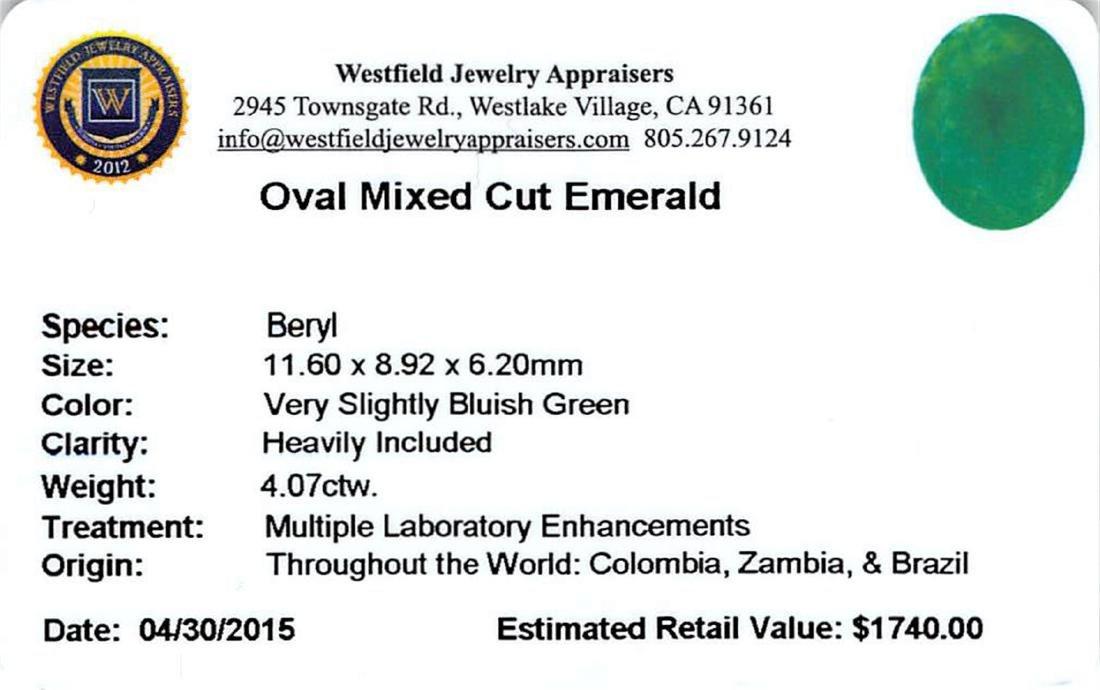 4.07 ctw Oval Emerald Parcel - 2