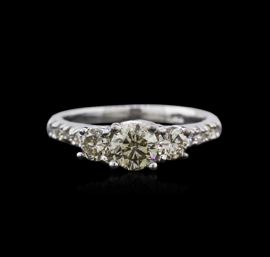 14KT White Gold 1.30 ctw Diamond Ring - 2