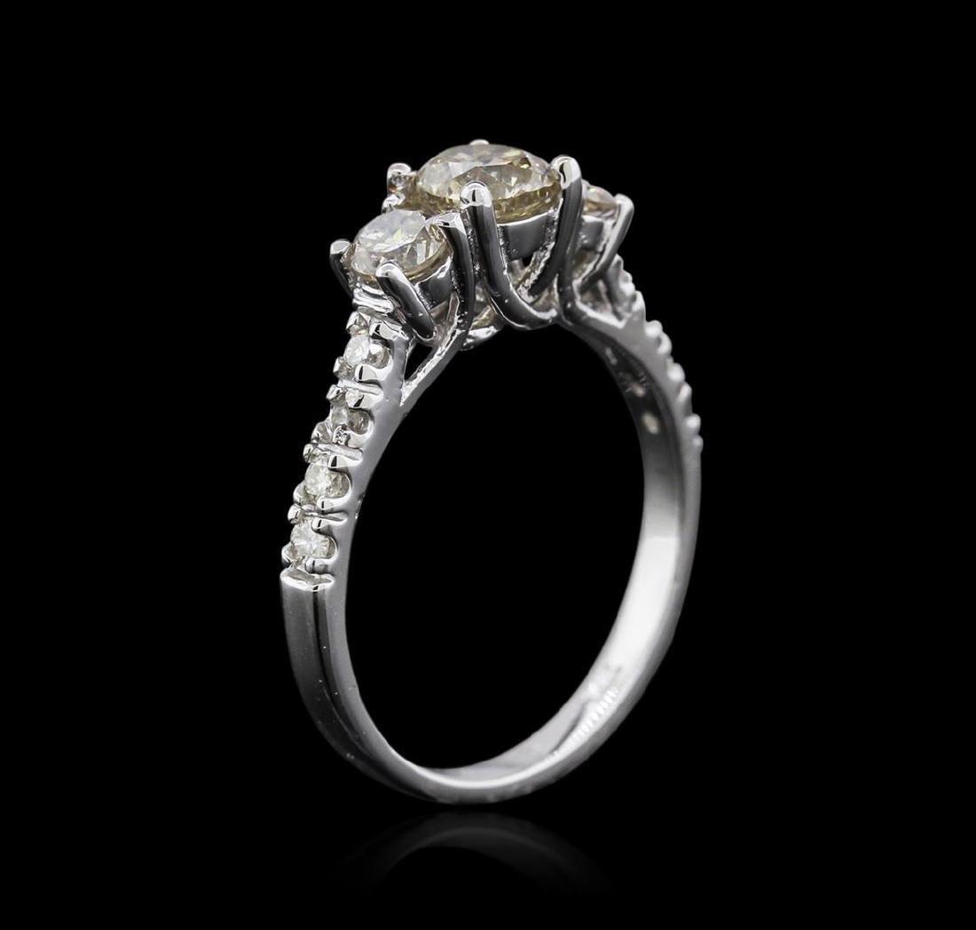 14KT White Gold 1.30 ctw Diamond Ring - 3