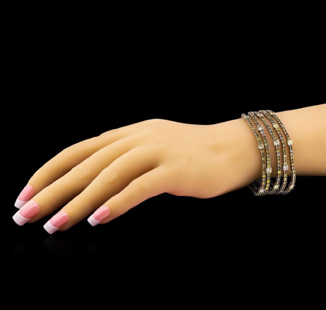 18KT White Gold 19.79tcw Diamond Ribbon Bracelet - 3