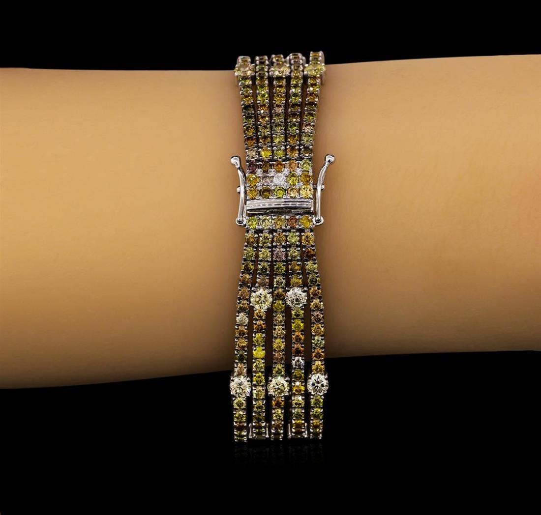 18KT White Gold 19.79tcw Diamond Ribbon Bracelet - 4