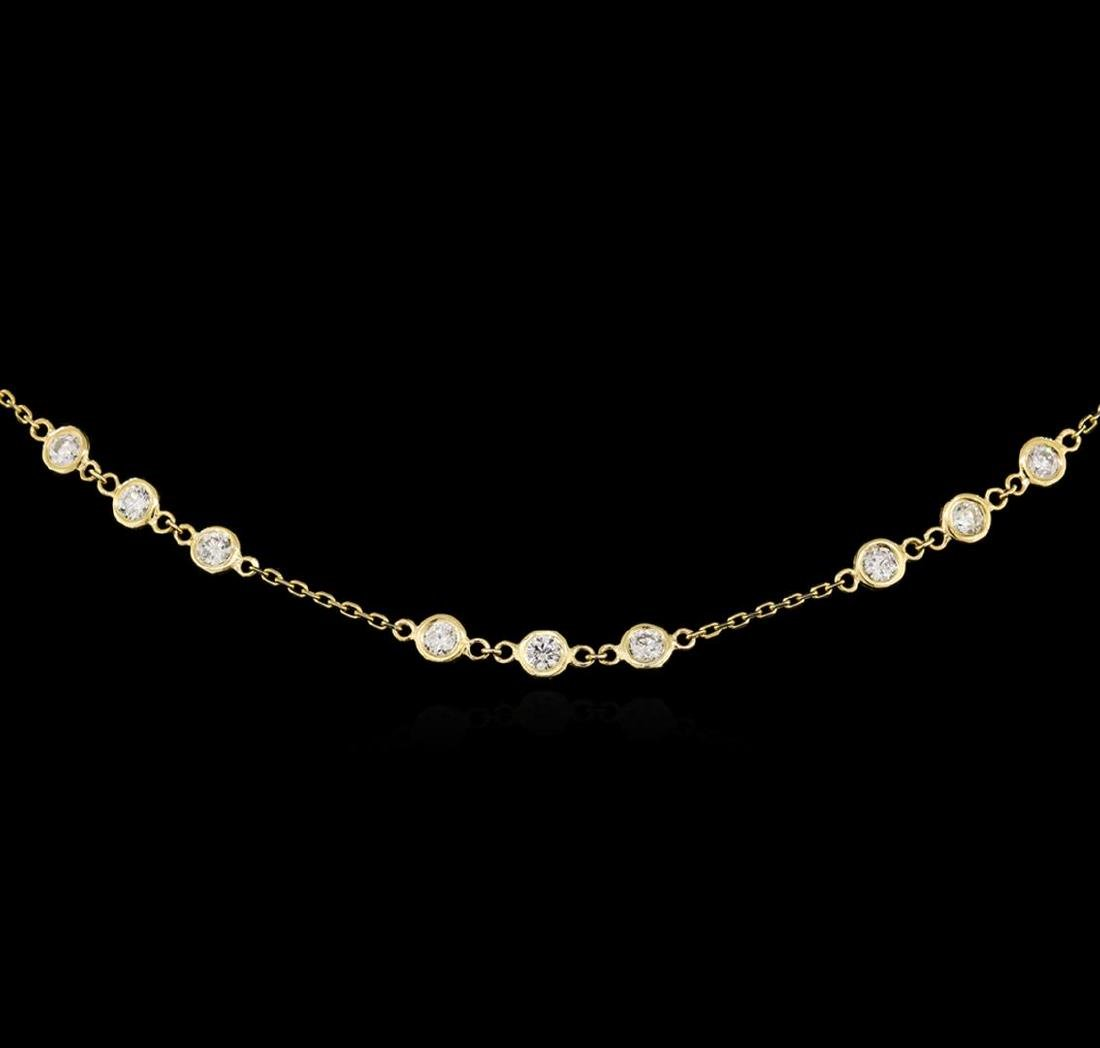 14KT Yellow Gold 2.96 ctw Diamond Necklace - 2
