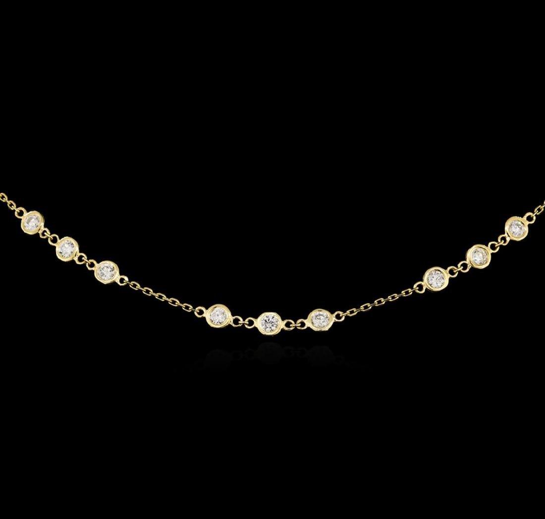 14KT Yellow Gold 2.96 ctw Diamond Necklace - 2