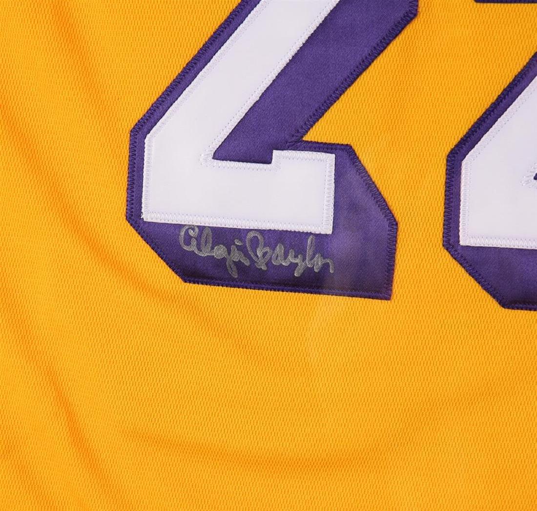 PSA Certified Elgin Baylor Autographed Basketball - 2