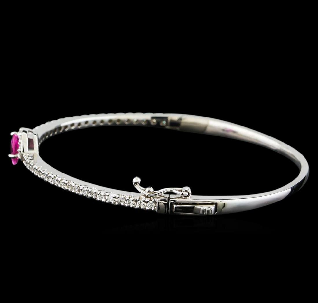 1.08 ctw Pink Sapphire and Diamond Bracelet - 14KT - 2