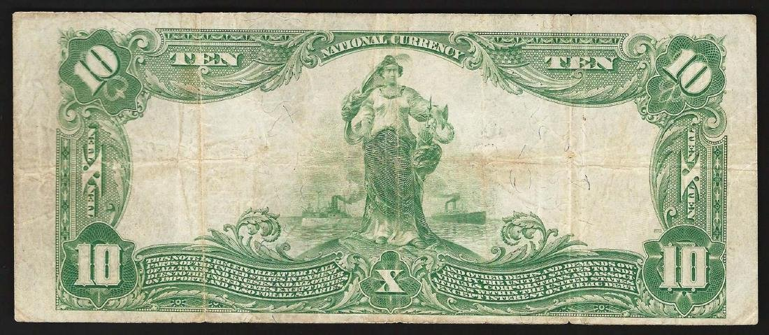 1902 $10 Charleston West Wirginia National Currency - 2