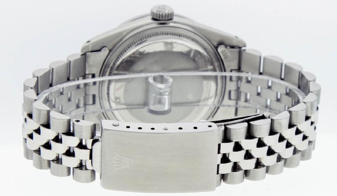 Rolex Mens Stainless Steel Blue String Diamond 36MM - 7