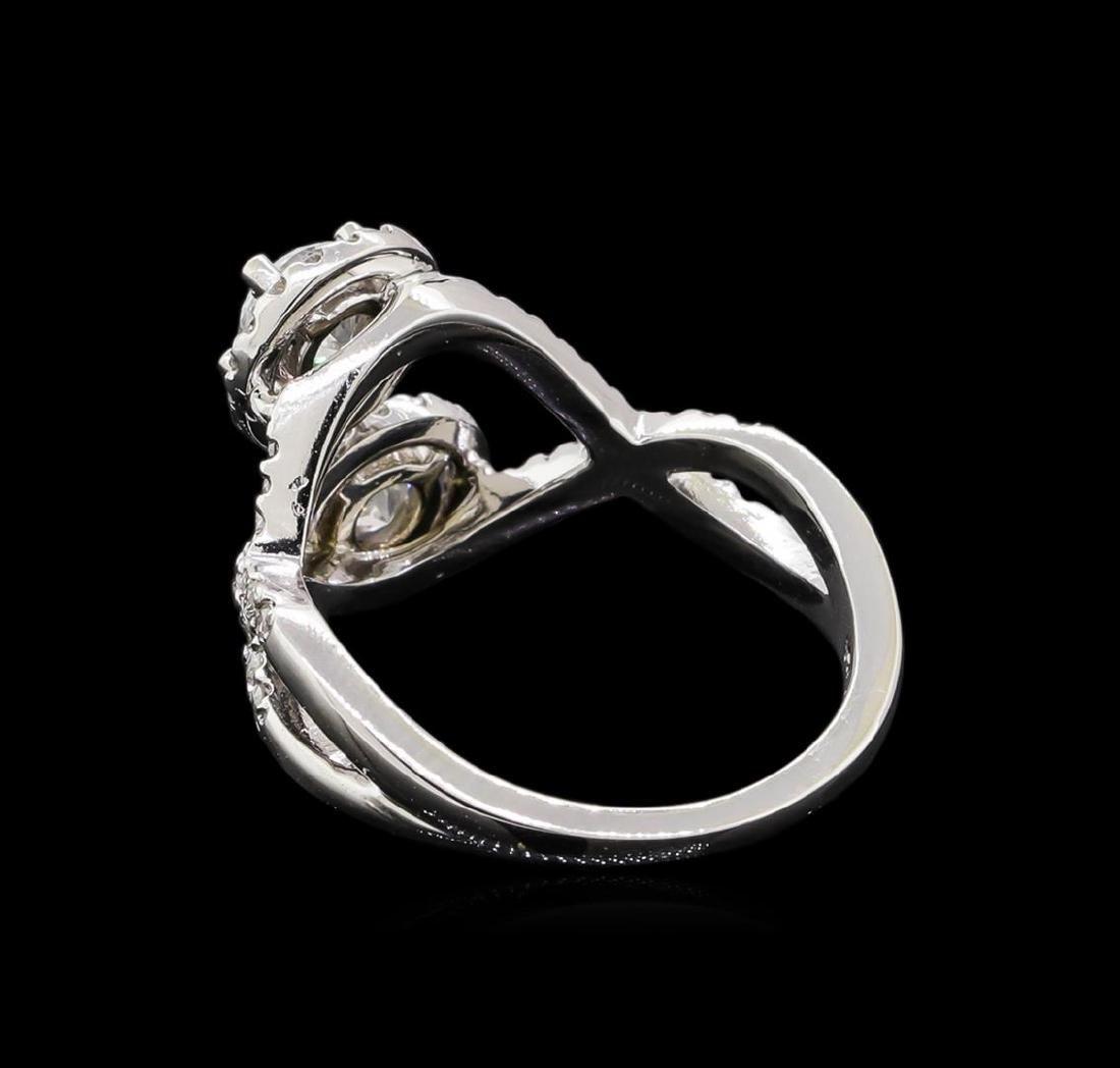 1.47 ctw Diamond Ring - 14KT White Gold - 3