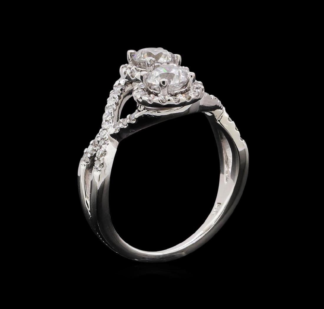 1.47 ctw Diamond Ring - 14KT White Gold - 4