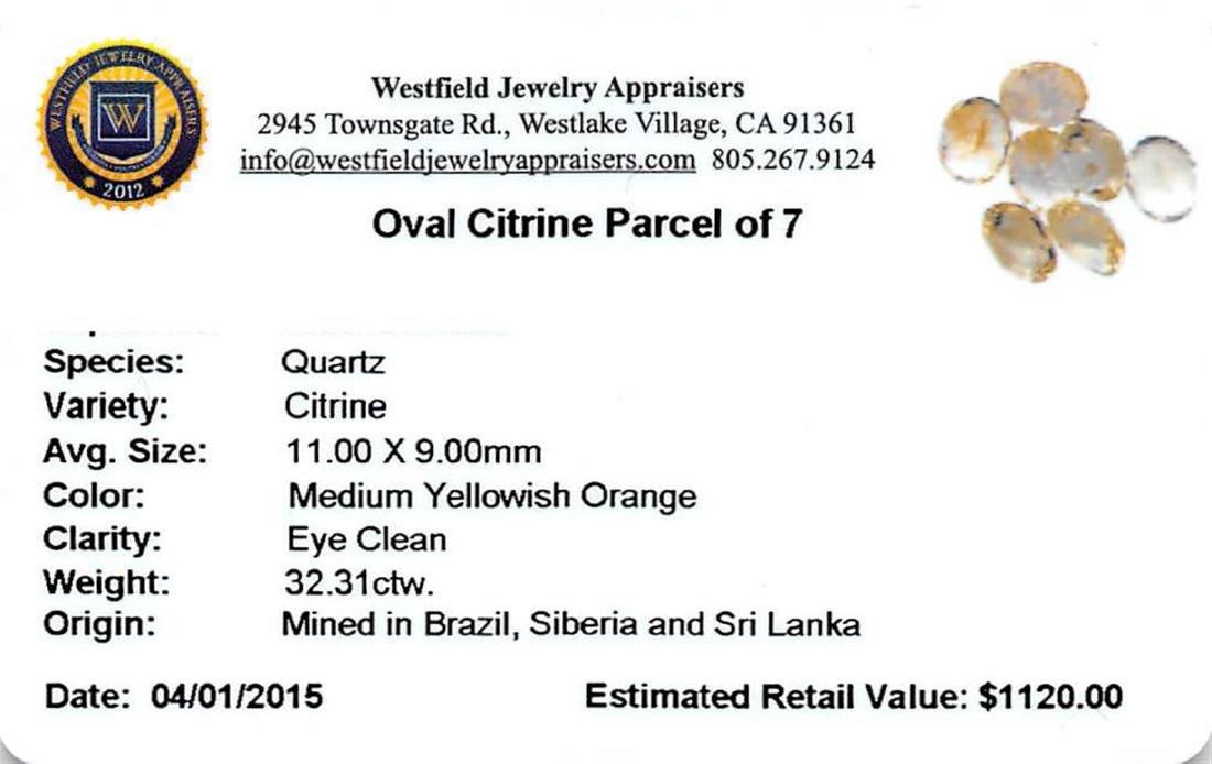 32.31 ctw Oval Mixed Citrine Quartz Parcel - 2