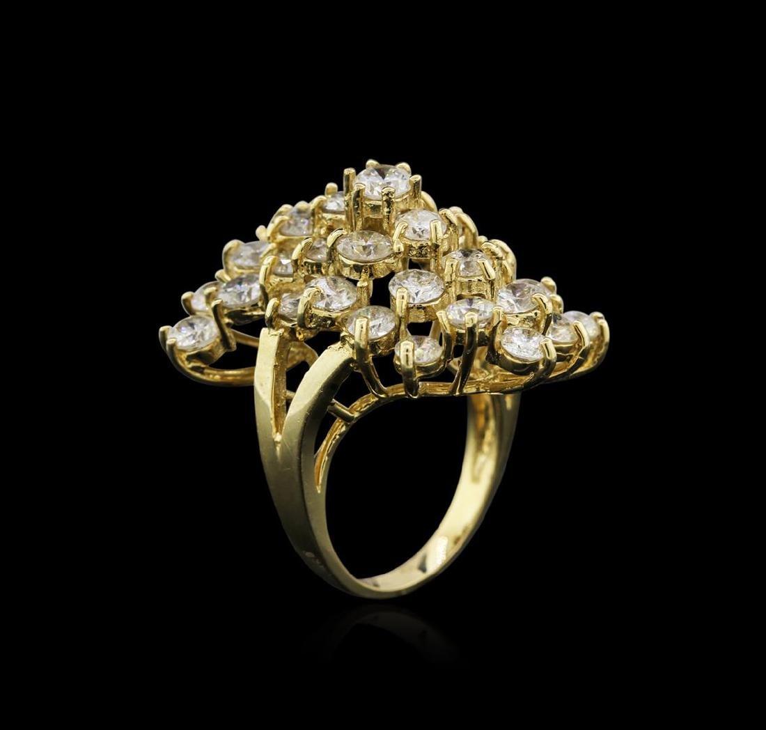 14KT Yellow Gold 8.32 ctw Diamond Ring - 3