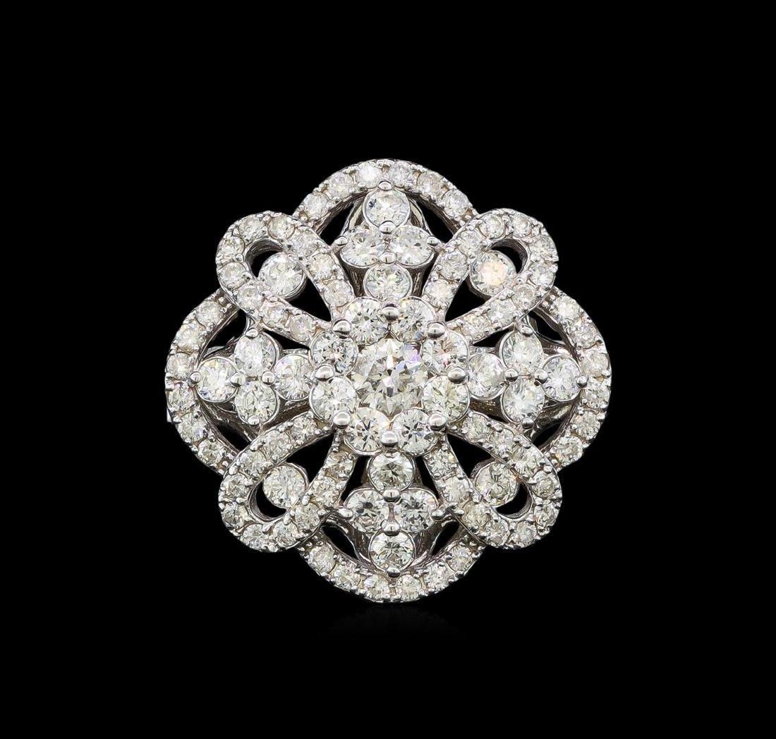 1.62 ctw Diamond Ring - 14KT White Gold - 2