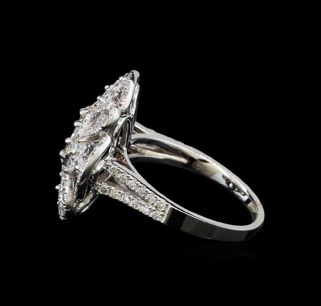 1.62 ctw Diamond Ring - 14KT White Gold - 3
