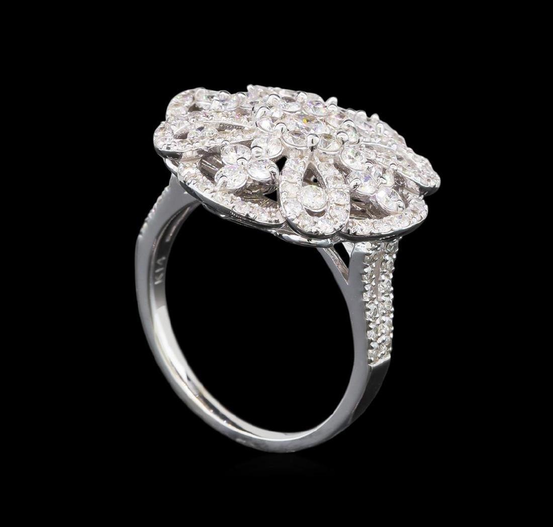 1.62 ctw Diamond Ring - 14KT White Gold - 4