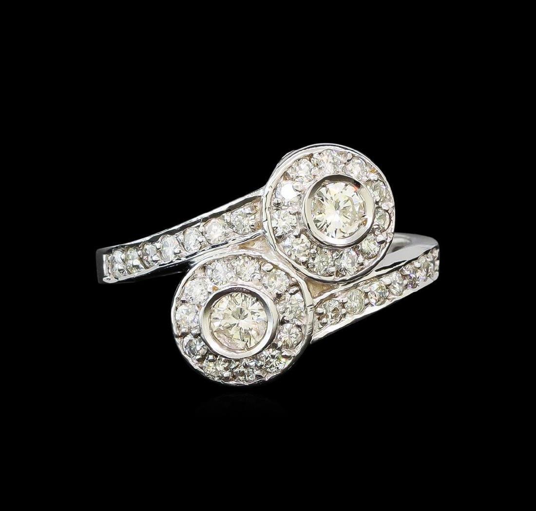 14KT White Gold 0.62 ctw Diamond Ring - 2