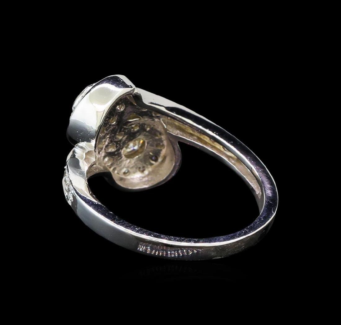 14KT White Gold 0.62 ctw Diamond Ring - 3