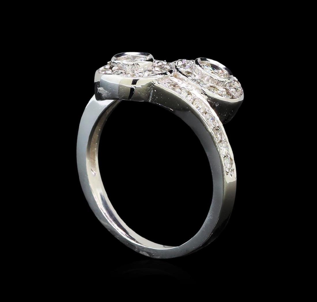 14KT White Gold 0.62 ctw Diamond Ring - 4