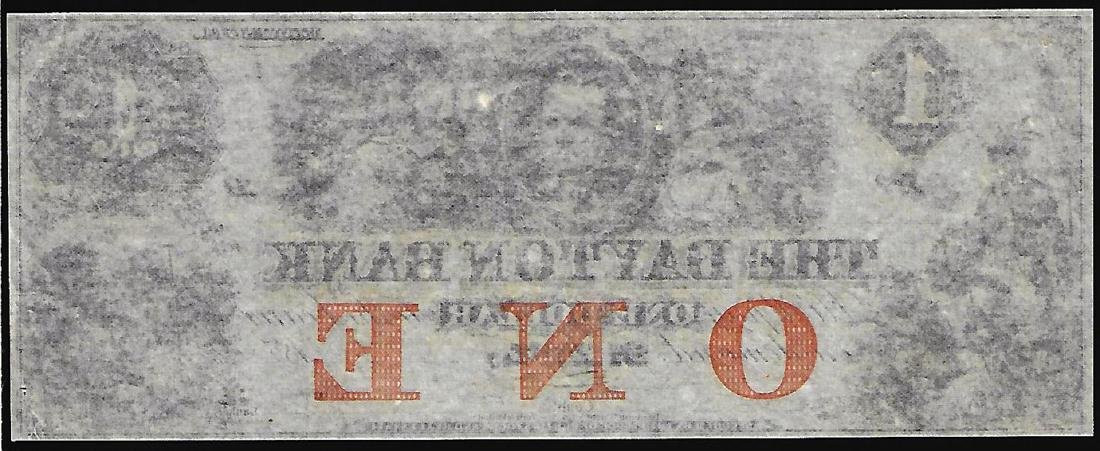 1850's $1 The Daytona Bank Obsolete Note - 2