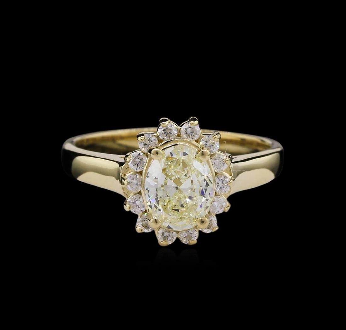 1.36 ctw Diamond Ring - 14KT Yellow Gold - 2
