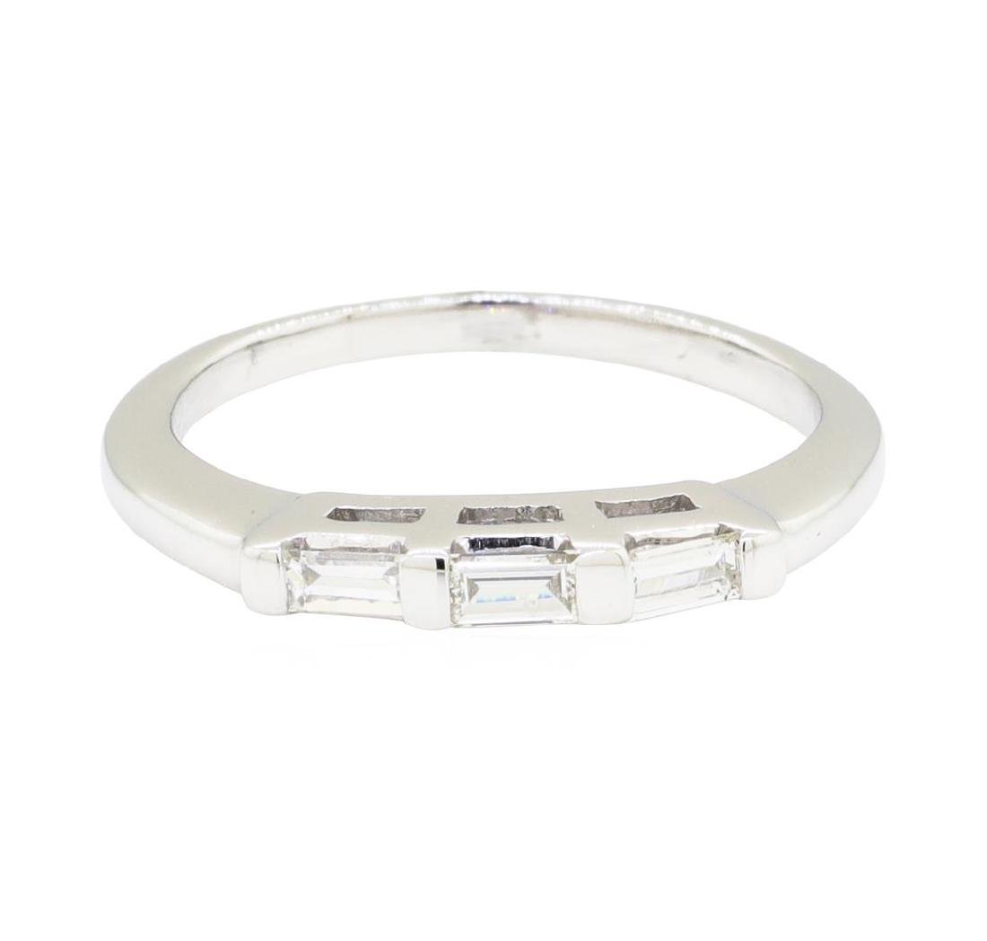 0.20 ctw Diamond Ring - 14KT White Gold - 3