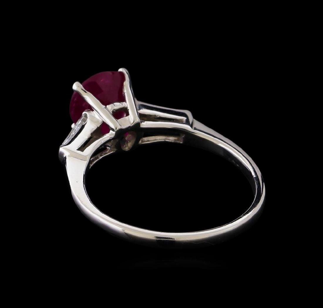 1.86 ctw Ruby and Diamond Ring - Platinum - 3