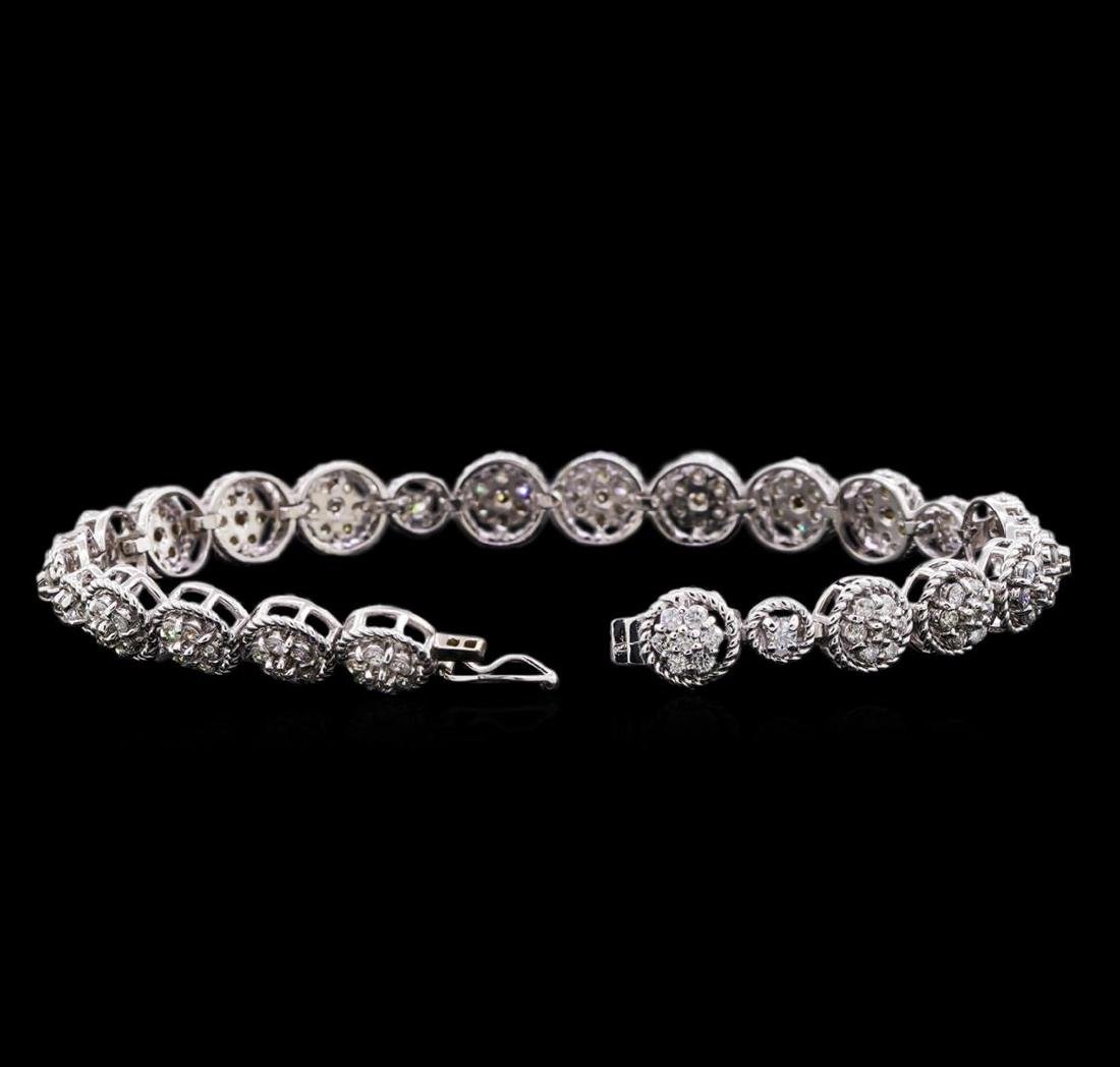 3.20 ctw Diamond Tennis Bracelet - 14KT White Gold - 3