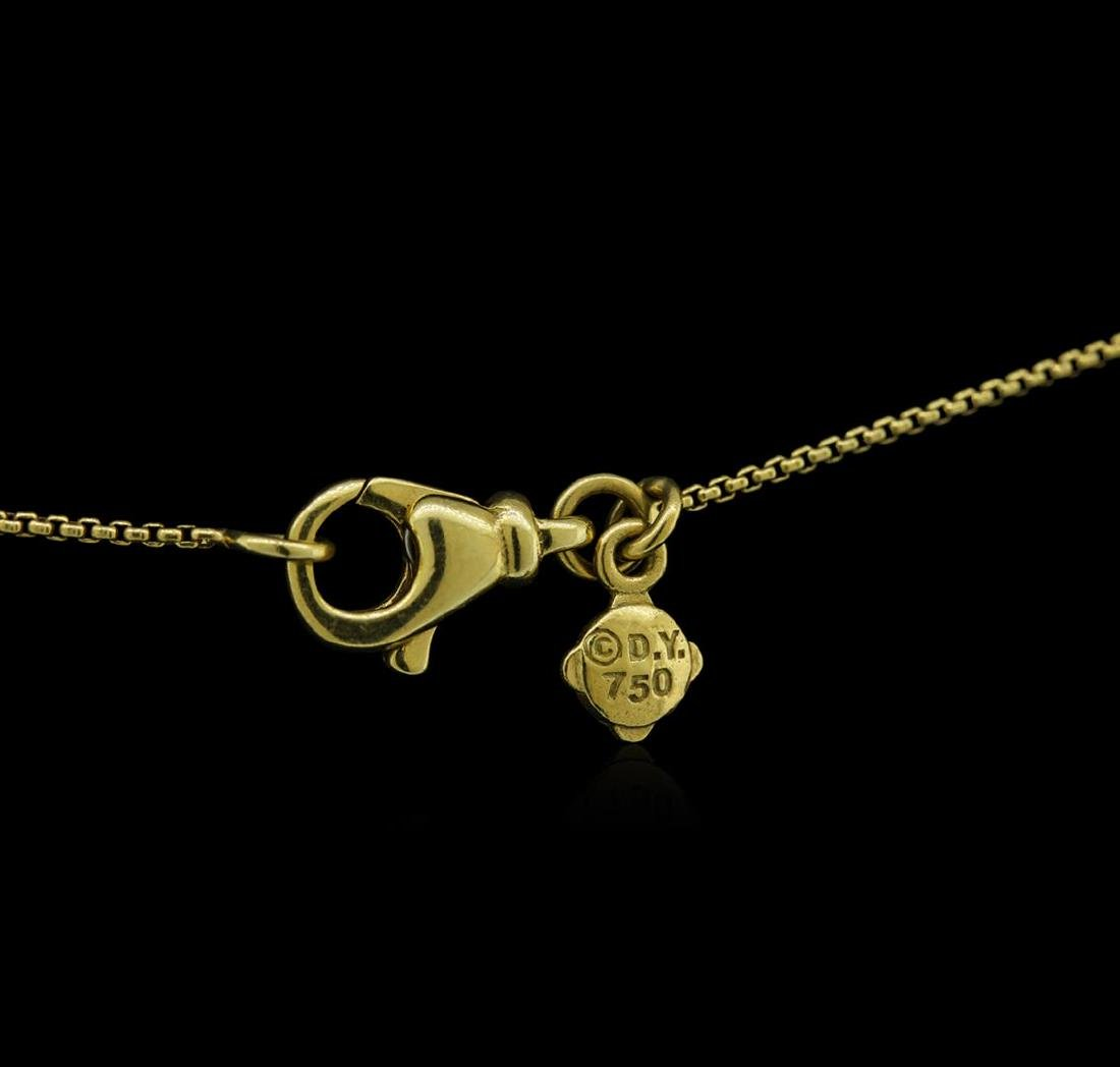 0.46 ctw Diamond Pendant With Chain - 18KT Yellow Gold - 3