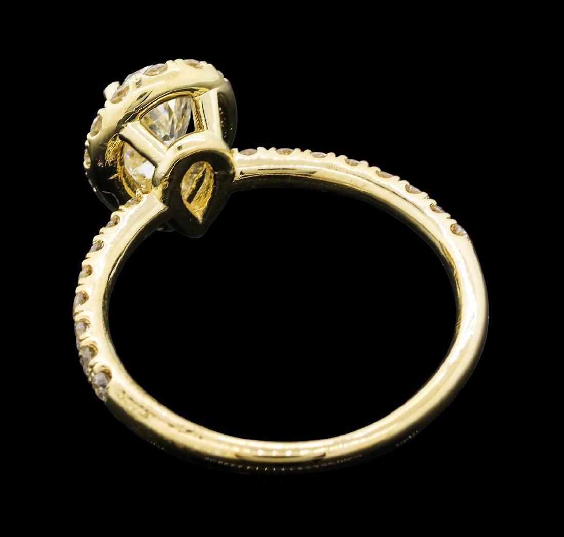 1.26 ctw Diamond Ring - 14KT Yellow Gold - 3