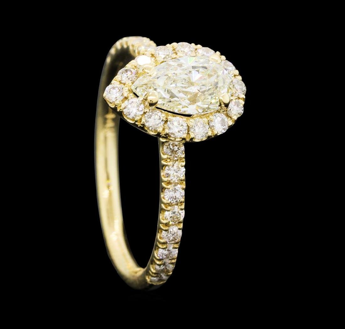 1.26 ctw Diamond Ring - 14KT Yellow Gold - 4