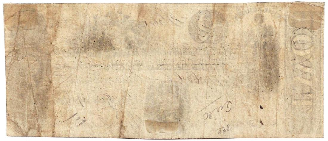 1825 $2 New Jersey State Bank of Trenton Obsolete Bank - 2