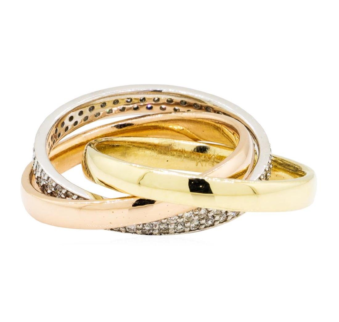 0.59 ctw Diamond Ring - 14KT Yellow, White, And Rose