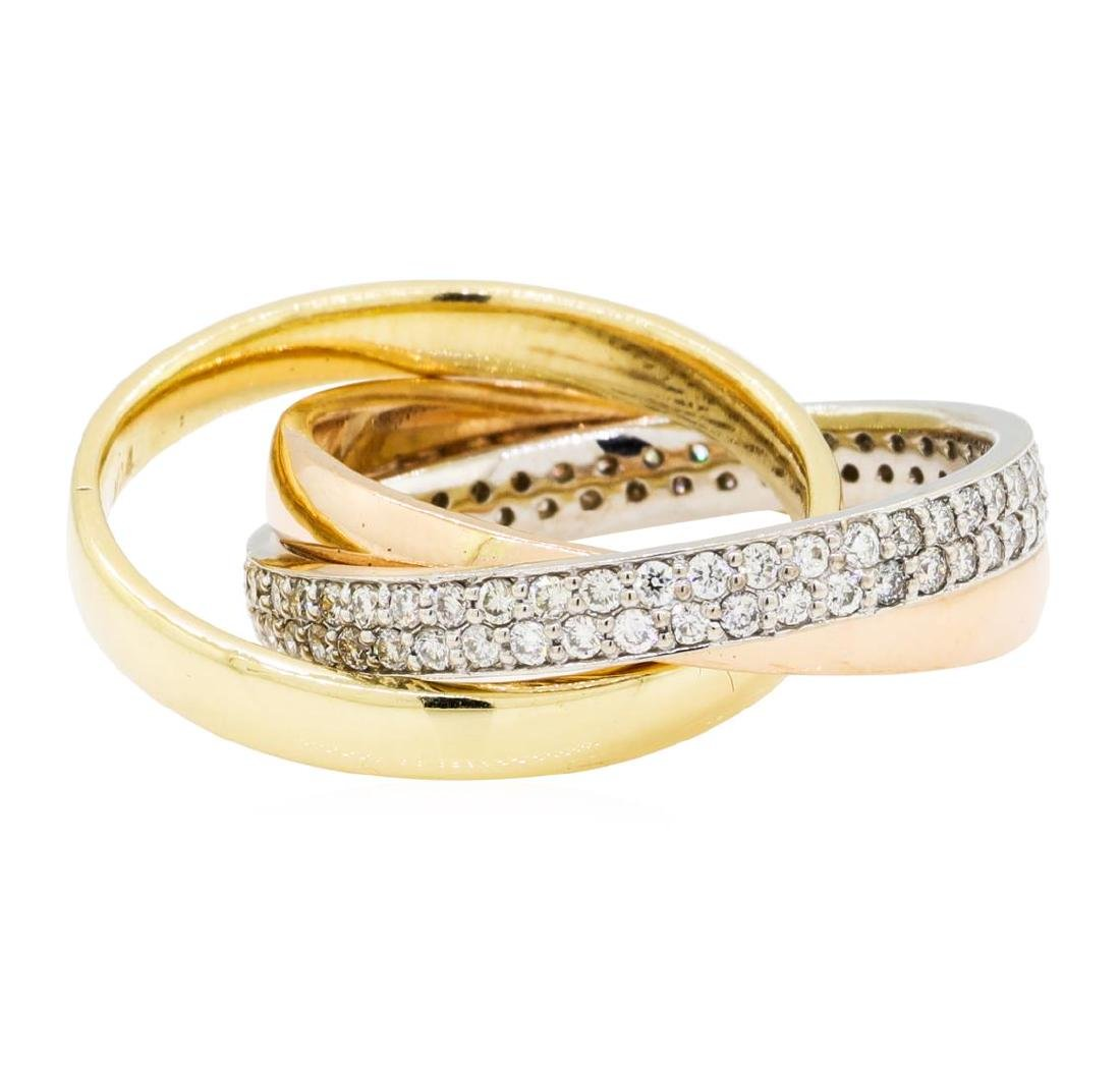 0.59 ctw Diamond Ring - 14KT Yellow, White, And Rose - 2