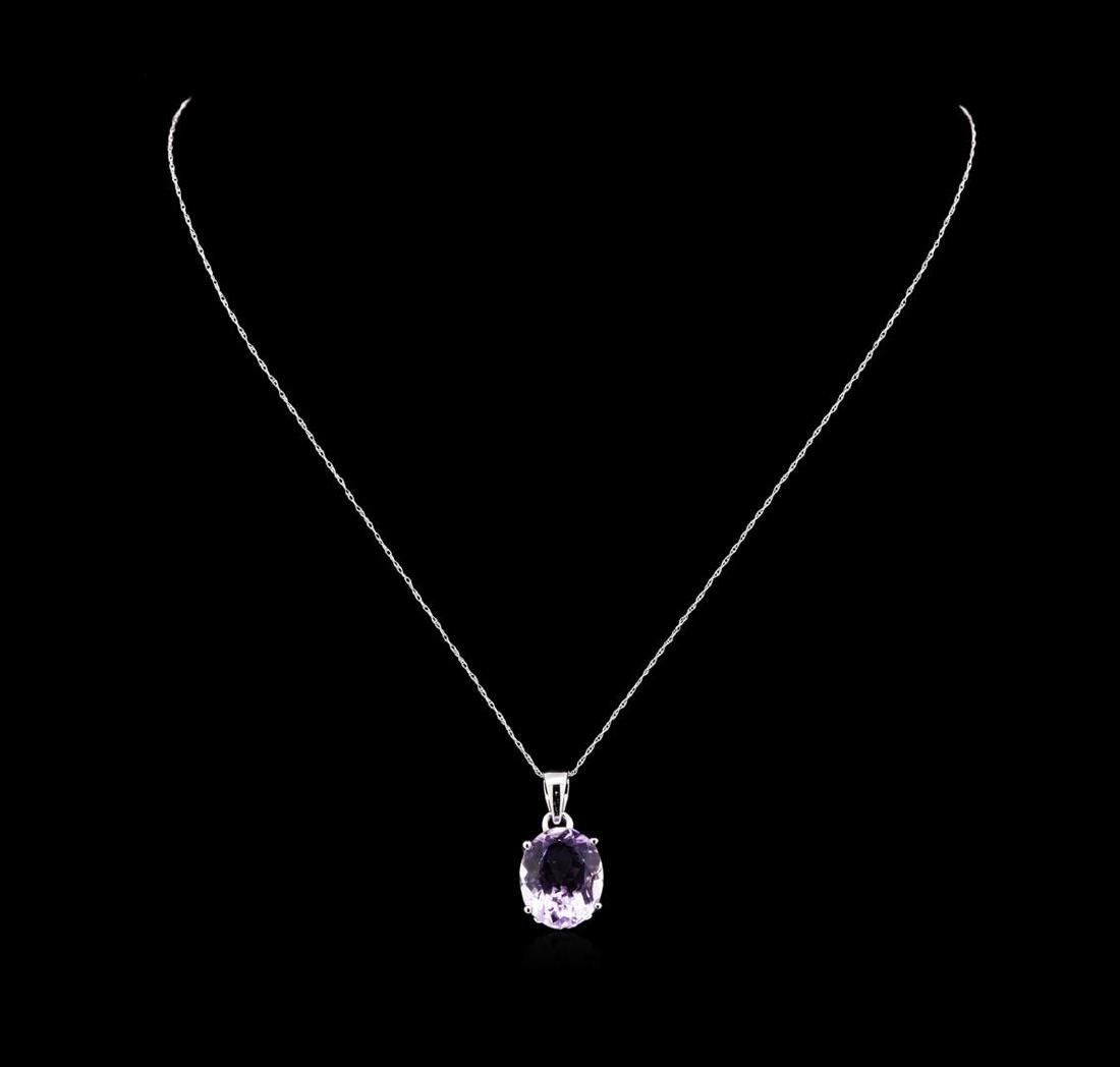 Crayola 7.90 ctw Pink Amethyst Pendant With Chain - 14K