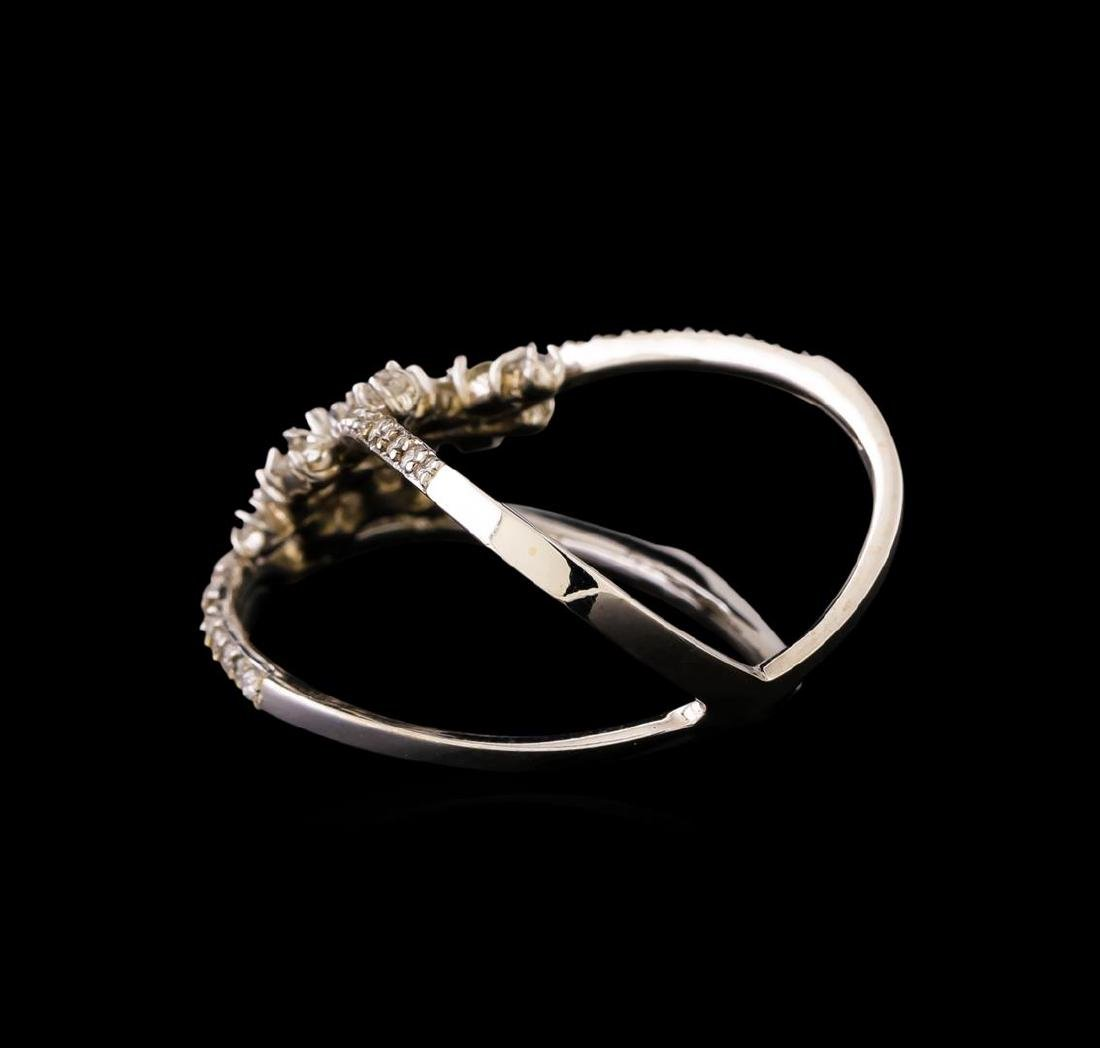 14KT White Gold 0.58 ctw Diamond Ring - 3
